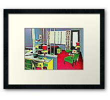 Retro Hotel Room Framed Print