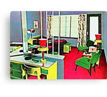 Retro Hotel Room Canvas Print