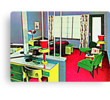 Retro Hotel Room Canvas Print
