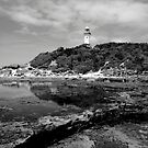 Norahead Lighthouse Black and White by Catherine Davis