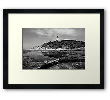 Norahead Lighthouse Black and White Framed Print