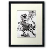 HOW I MET YOUR MOTHER (Spaceman Vs Dinosaur) Framed Print
