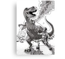 HOW I MET YOUR MOTHER (Spaceman Vs Dinosaur) Canvas Print