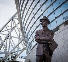 Tom Landry Statue at Cowboys Stadium by John Attebury