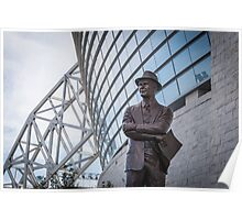 Tom Landry Statue at Cowboys Stadium Poster