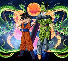 Dragonball Z - Goku and Perfect cell by J. Danion