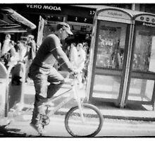 Man on rickshaw oxford street London by grorr76
