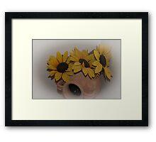 Sunflowers in Cortona, Tuscany, Italy Framed Print