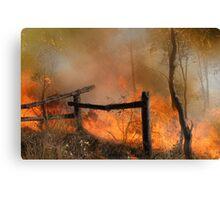 The Bush Fire Season Canvas Print