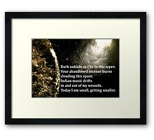 small, getting smaller Framed Print