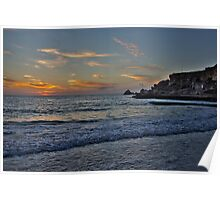 Dawn at Golden Bay Poster