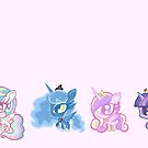 Weeny My Little Pony- Princesses by LillyKitten