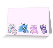 Weeny My Little Pony- Princesses Greeting Card