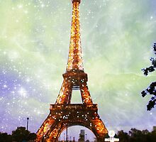 Eiffel Tower, Starry Night by Linde Stewart
