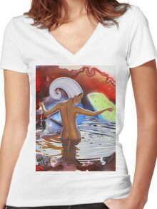 Mother of Life Women's Fitted V-Neck T-Shirt