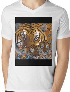 Mother Cubs Mens V-Neck T-Shirt