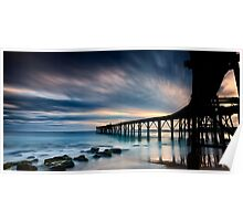 Catherine Hill Bay Silhouette - Panorama Poster