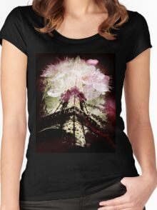 Paris, Springtime in Pink Women's Fitted Scoop T-Shirt