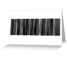 Moviebarcode: Das weiße Band (2009) Greeting Card