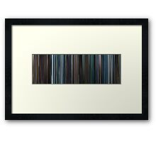 Moviebarcode: X-Men III The Last Stand (2006) Framed Print