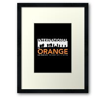 International Orange Summit 2015 San Francisco Architecture T-shirt Framed Print