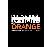 International Orange Summit 2015 San Francisco Architecture T-shirt Photographic Print