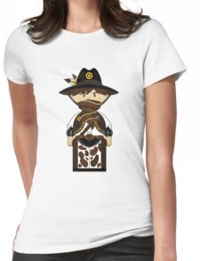 """Cute """"Wild West' Cowboy Sheriff Womens Fitted T-Shirt"""