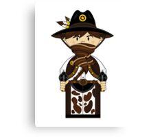 "Cute ""Wild West' Cowboy Sheriff Canvas Print"