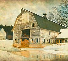 Winter Dairy Barn by JimBremer