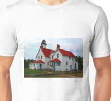 Point Iraquois lighthouse in the upper pennisula of Michigan Unisex T-Shirt