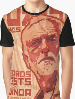Corbyn Brings Beards, Vest and Quinoa Graphic T-Shirt
