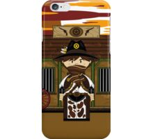 Cute Cowboy Sheriff at Jailhouse iPhone Case/Skin