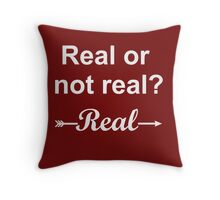 Hunger Games Real or Not Real 2 Throw Pillow