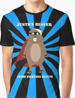 Justice Beaver Graphic T-Shirt