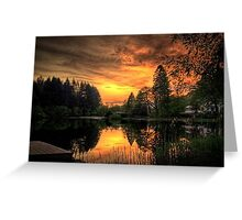 Golden Light On Loch Ard Greeting Card