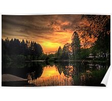 Golden Light On Loch Ard Poster