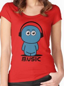 Blues Music Women's Fitted Scoop T-Shirt