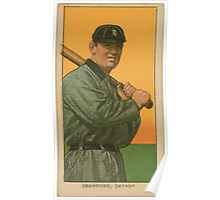 Benjamin K Edwards Collection Sam Crawford Detroit Tigers baseball card portrait 002 Poster