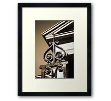Charleston Wrought Iron  Framed Print