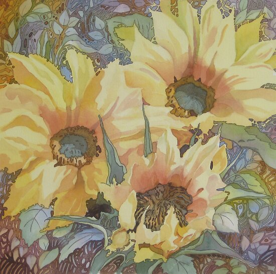 Summer Sunflowers by Anne Bonner
