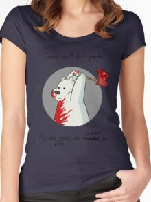 guns don't kill people - blood Women's Fitted Scoop T-Shirt