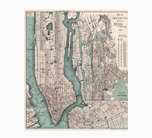 Vintage Map of New York City (1897) Unisex T-Shirt