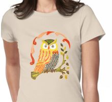 Lovely Cute Owl Womens Fitted T-Shirt