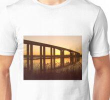 Dusk Under the Orwell Bridge, Ipswich Unisex T-Shirt