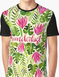 Tropical Wanderlust – Pink & Lime Graphic T-Shirt