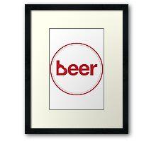 Love Beer Framed Print