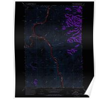 USGS Topo Map Indiana ID Limekiln Rapids 236886 1968 24000 Inverted Poster