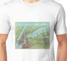 Vintage Pictorial Map of of New York City (1909)  Unisex T-Shirt