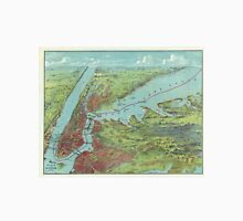 Vintage Pictorial Map of of New York City (1909)  T-Shirt