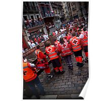 emergency crew on standby Poster